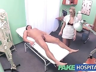Towheaded delivery look after gives a faux health center specimen a gorgeous push pornvideo